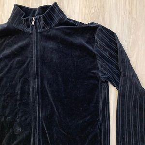 Vintage Hugo Boss Velour Zipper Sweater